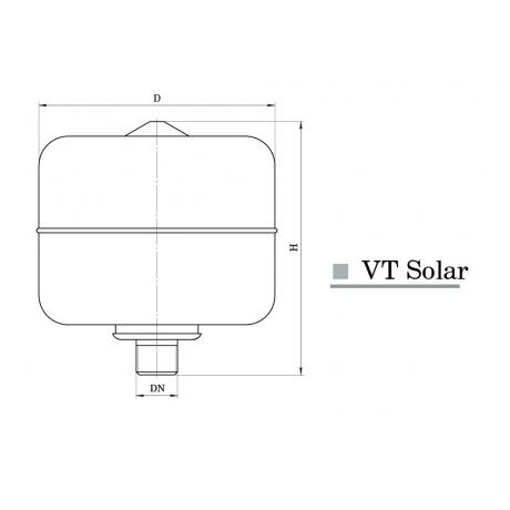 Расширительный бак Насосы+Оборудование VT 24 Solar 10301