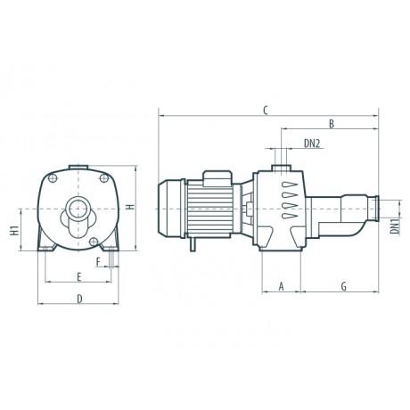 Центробежный поверхностный насос Sprut JA 300 112177