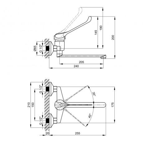 Смеситель для кухни Lidz (CRM) Watt 83 009