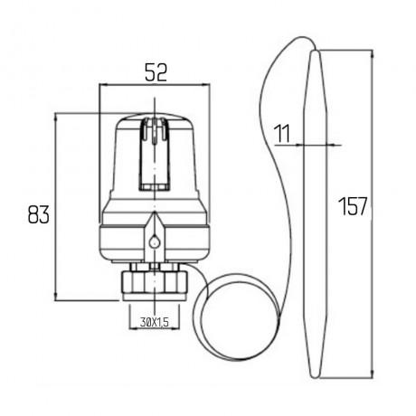 Термоголовка Icma 30х1,5 с выносным датчиком №992