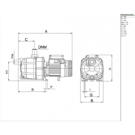 Насос для бассейна DAB EUROCOM SP 30/50 M (official, 102966260)