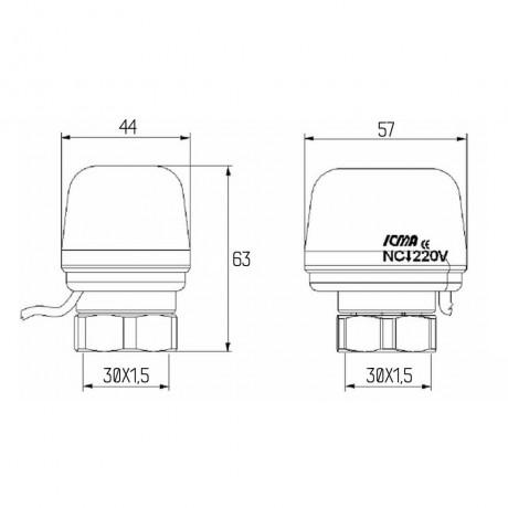 Сервопривод Icma 230V №980 (NC)