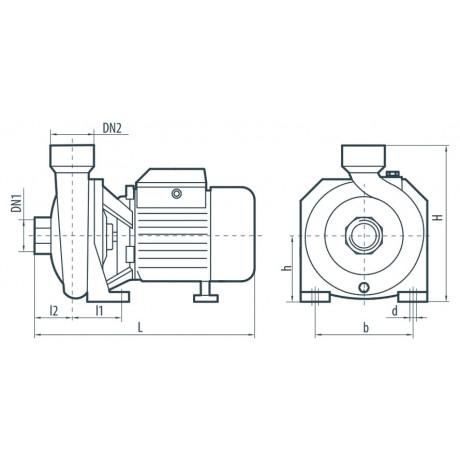 Центробежный поверхностный насос Sprut HPF 550 112106