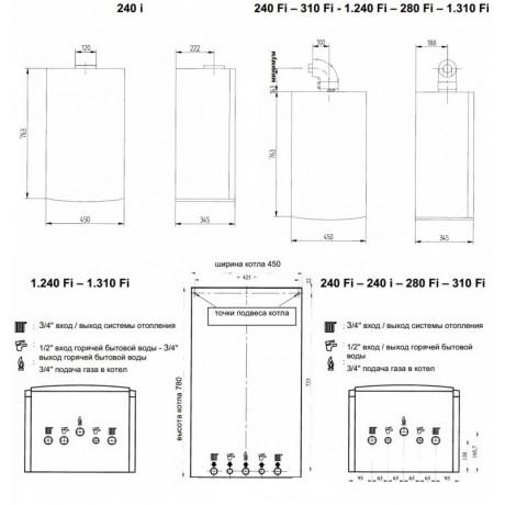Газовый котел BAXI LUNA3 1.310 Fi