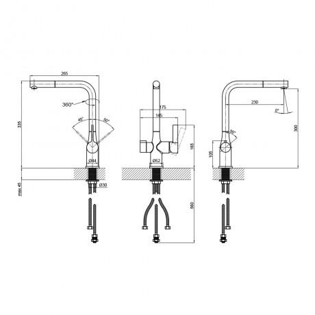 Смеситель для кухни с фильтром Qtap Kuchyne 92107FC