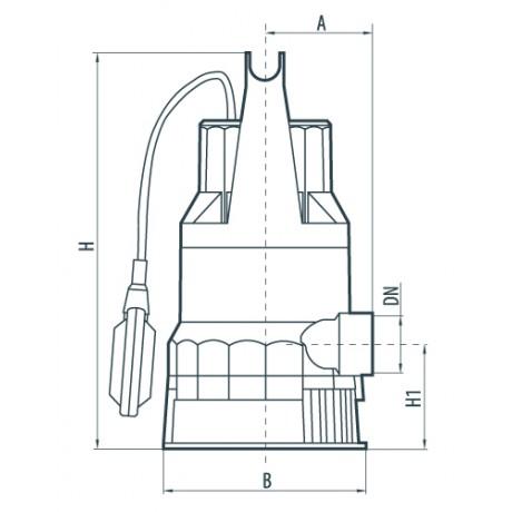 Дренажный насос Насосы+Оборудование DSP 550PD 132006
