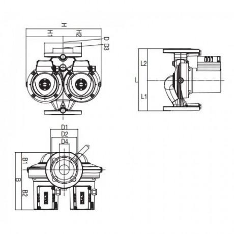 Насос циркуляционный бытовой DAB D 110/250.40 T (official, 505828601)