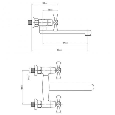 Смеситель для кухни Lidz (CRM) 75 21 361