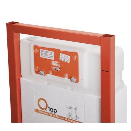 Набор инсталляция 4 в 1 Qtap Nest ST с линейной панелью смыва QT0133M425V1107GB