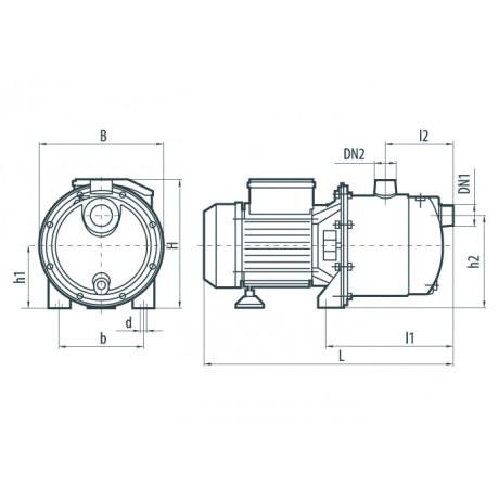 Поверхностный центробежный насос Насосы+Оборудование JS 110 X 7891