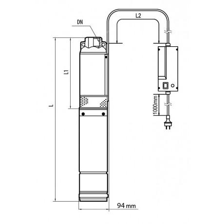 Скважинный насос Насосы+Оборудование БЦП 1,8-60У 7893