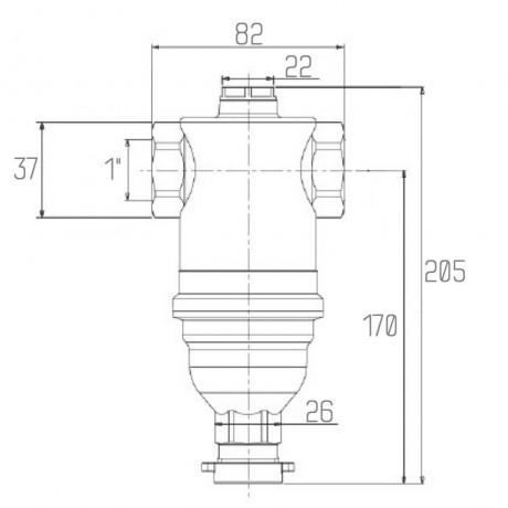 """Самопромывной фильтр Icma 1"""" №745"""