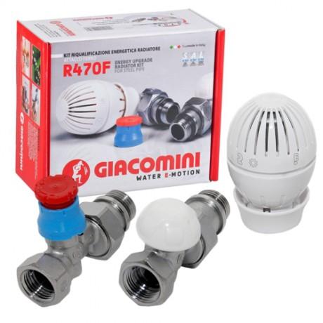 Комплект  термостатический Giacomini R470F G1/2 прямой