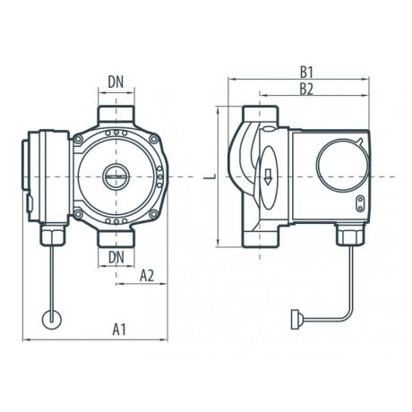 Циркуляционный насос Насосы+Оборудование BPS 20-2G-130/B 122031