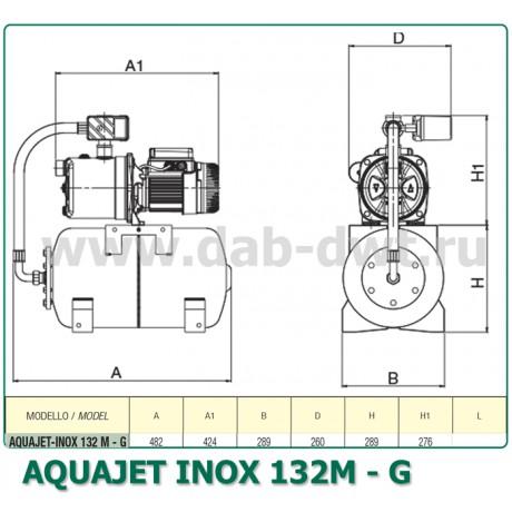 Насос DAB AQUAJET-INOX 132 M - G (official, 60141888)