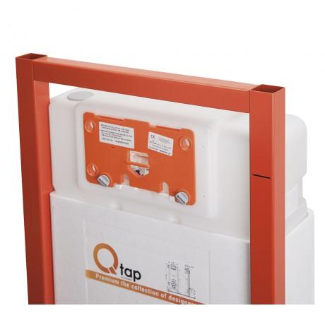 Набор инсталляция 4 в 1 Qtap Nest ST с круглой панелью смыва QT0133M425V1163GB