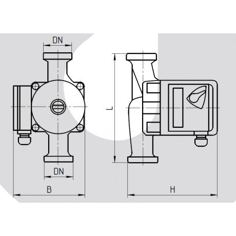 Циркуляционный насос Rudes UPS 25-6-180 9302