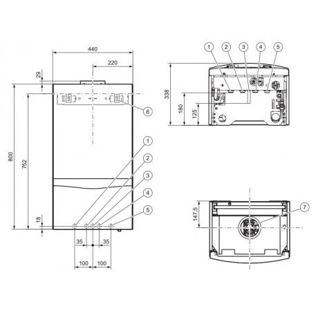 Газовый котел Vaillant turboTEC plus VU 202/5-5