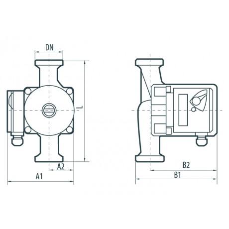 Циркуляционный насос Насосы+Оборудование BPS 25-8S-180 122011
