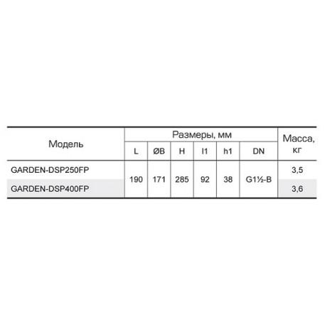 Дренажный насос Насосы+Оборудование GARDEN DSP 250FP 10572