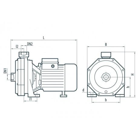 Центробежный поверхностный насос Насосы+Оборудование 2CPm 60 112048