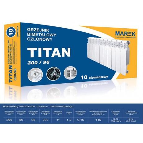Радиатор биметалический Titan ( Marek) 300/96