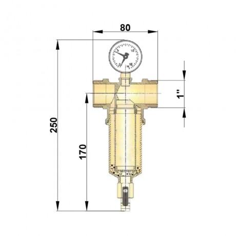"""Самопромывной фильтр Icma 1"""" и 3/4"""" НВ №750"""
