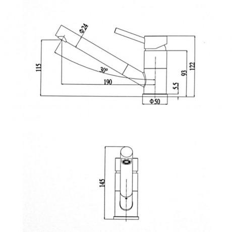 Смеситель для кухни ULA BW7008