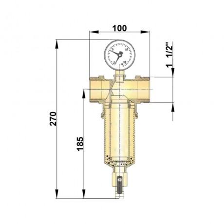 """Самопромывной фильтр Icma 1"""" 1/2 и 1"""" 1/4 НВ №750"""