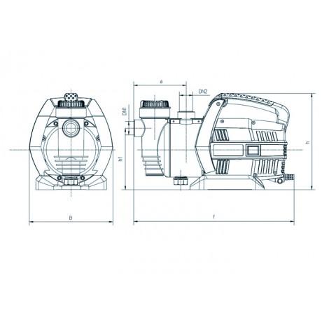 Центробежный поверхностный насос Насосы+Оборудование Garden-JLUX 1,5-30/0,8 112086