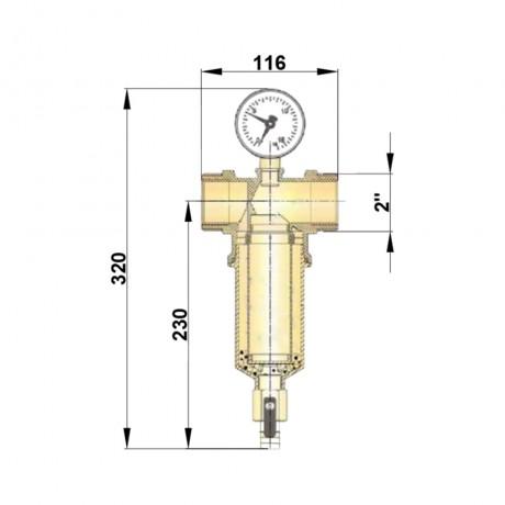 """Самопромывной фильтр Icma 2"""" ВР №750"""