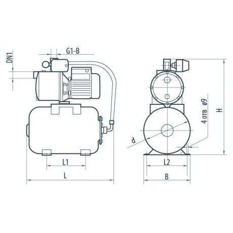 Насосная станция Насосы+Оборудование AUJS 110/24L без пятерника 7975