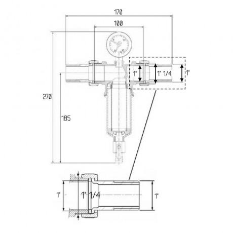 """Самопромывной фильтр Icma 1"""" №751"""