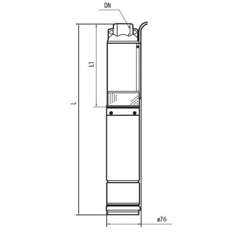 Скважинный насос Насосы+Оборудование 75 SWS 1.2-75-0.55 + муфта 8453