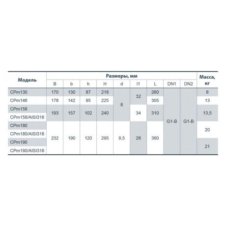 Центробежный поверхностный насос Насосы+Оборудование CPm 130 3766