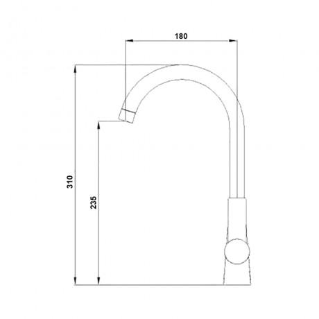 Смеситель для кухни Qtap Form CRM 007F-1