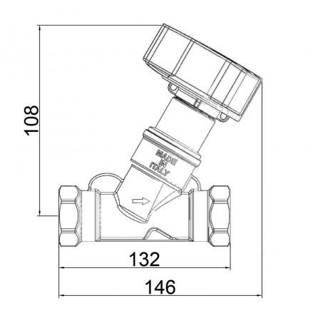 """Балансировочный вентиль Icma 1"""" 1/2 №C299"""