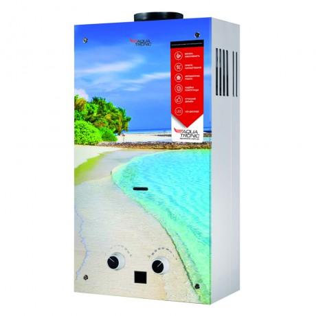 Газовая колонка Aquatronic дымоходная JSD20-AG308 10 л стекло (пляж)
