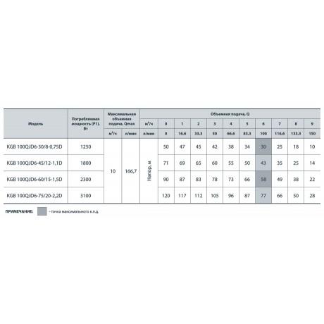 Скважинный насос Насосы+Оборудование KGB 100QJD6-30/8-0.75D 6963