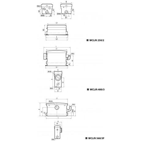 Канализационная установка Sprut WCLIFT 560/3F 6210