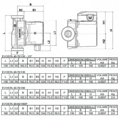 Насос циркуляционный бытовой DAB EVOSTA 40-70/130 (official, 60161174)