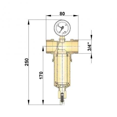 """Самопромывной фильтр Icma 3/4"""" и 1/2"""" НВ №750"""