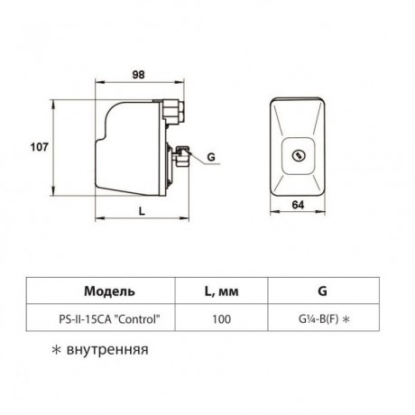 Реле давления Rudes PS-II-15CA Control 15423