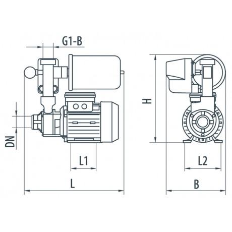 Насосная станция Насосы+Оборудование AUTPS60/1L mini 6733