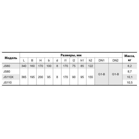 Центробежный поверхностный насос Насосы+Оборудование JS 60 112023