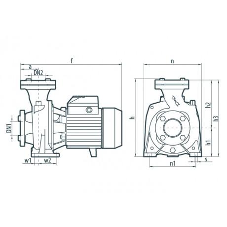 Центробежный поверхностный насос Насосы+Оборудование NF 130С 112067