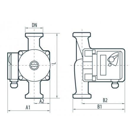 Циркуляционный насос Насосы+Оборудование BPS 32-4S-180 6601