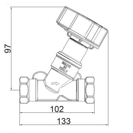 """Балансировочный вентиль Icma 1"""" №C299"""