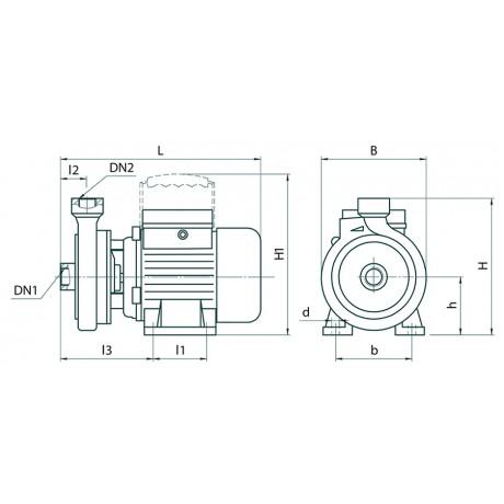 Поверхностный центробежный насос Насосы+Оборудование CDK18 Poliv 8072