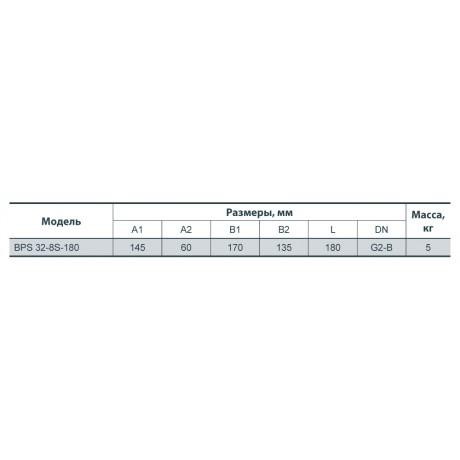 Циркуляционный насос Насосы+Оборудование BPS 32-8S-180 122013
